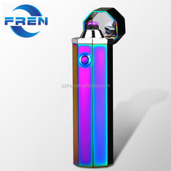 Free sample Free Logo!!! FR-P03 Tesla Coil Lighter Dual Arc USB Rechargeable Windproof Electrical Plasma Arc Lighter For Cigar