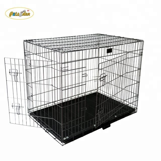 Large 36 Inch Foldable Breeder Puppy Kitten Rabbit Training Cage With Bottom Wire Grid Mesh Floor