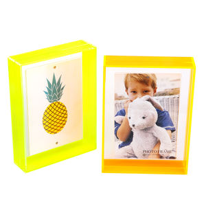 Wholesale Mini Wall Magnetic Fluorescent Acrylic Photo Frame