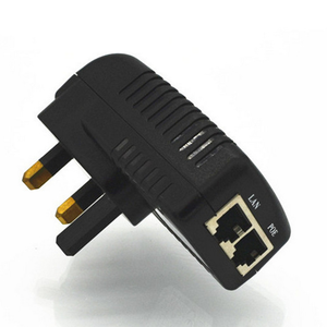DC 48 V 0.5A Dinding Plug POE Injector Ethernet Adaptor untuk IP Phone/Kamera Power Supply Kami