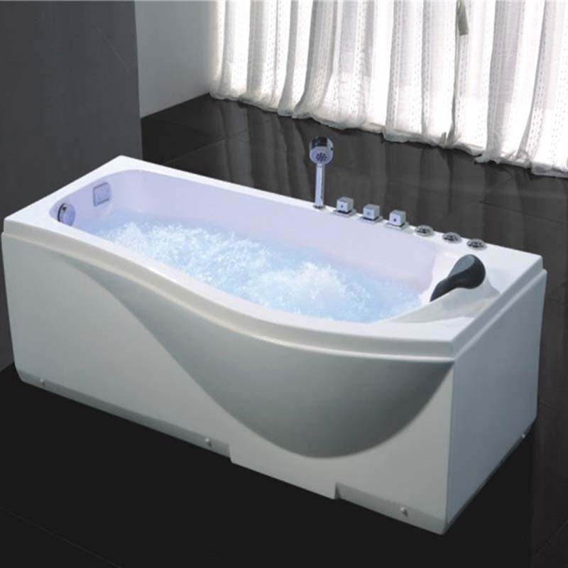 2018 china luxury transparent glass solid surface whirlpool bathroom acrylic massage bathtub