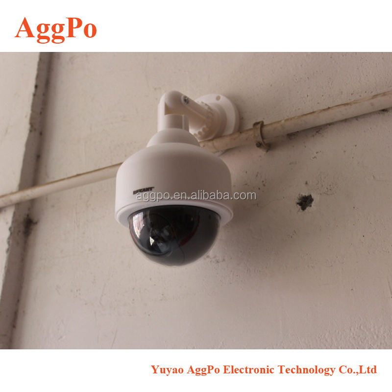 Fake Security Camera, Dummy Dome Shaped Decoy Realistic Look Surveillance System Indoor/Outdoor Use, Perfect For Shops