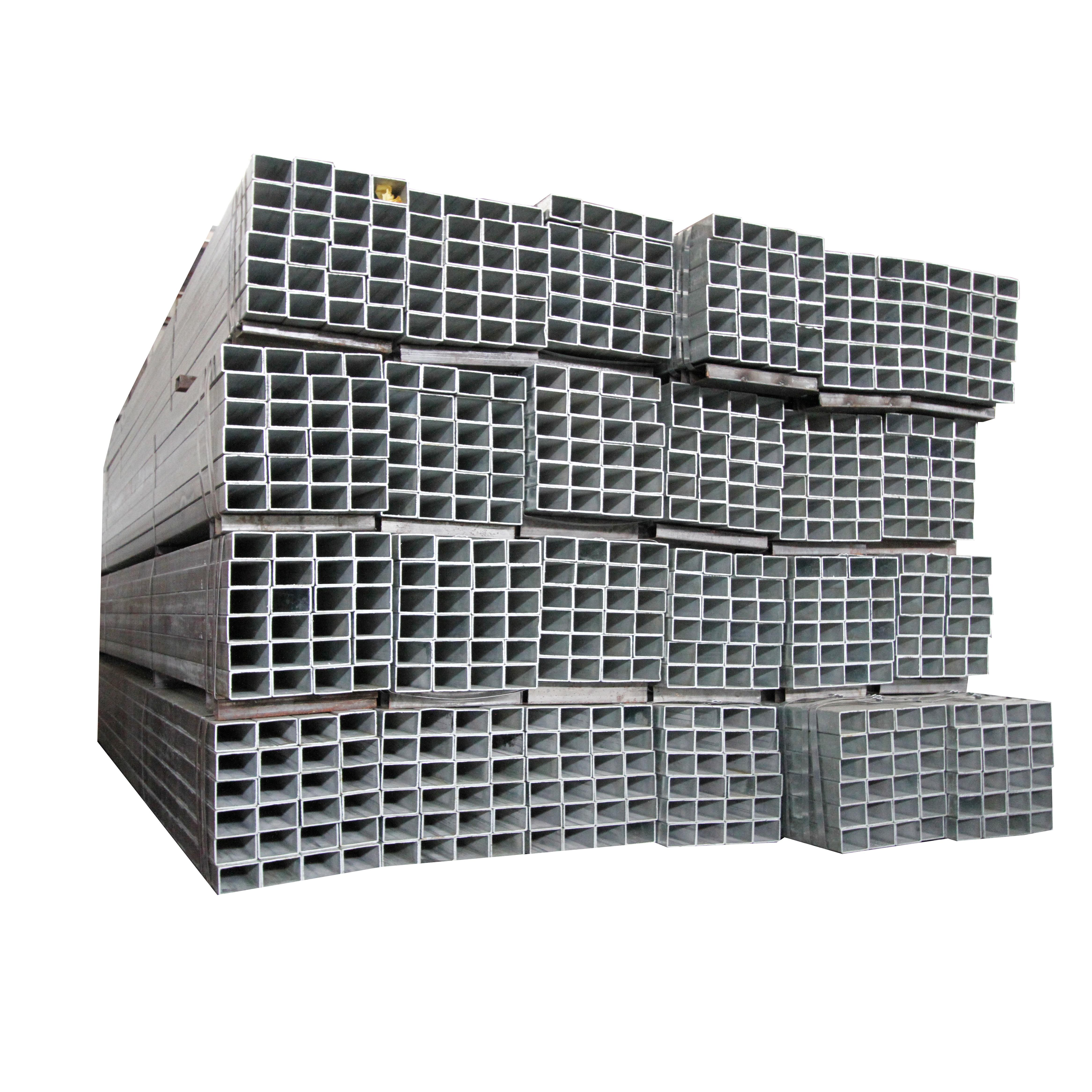Galvanized Square Culvert Pipe Square Tube For Galvanized Steel Grate Square Twisted Cross Bar