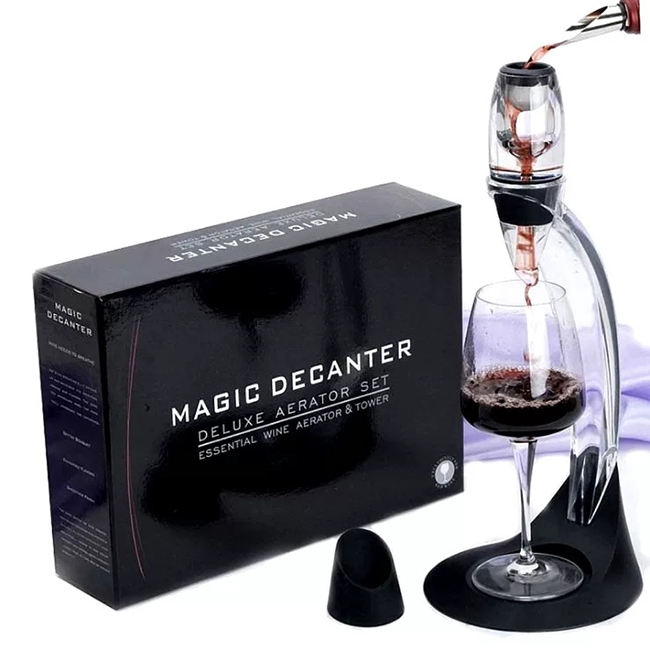Deluxe Luxury Red Wine Essential Magic Aerator Pourer Decanter Tower Set