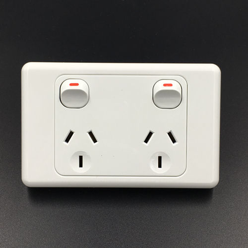 New zealand socket outlet electrical 2 gang powerpoint wall switch receptacle
