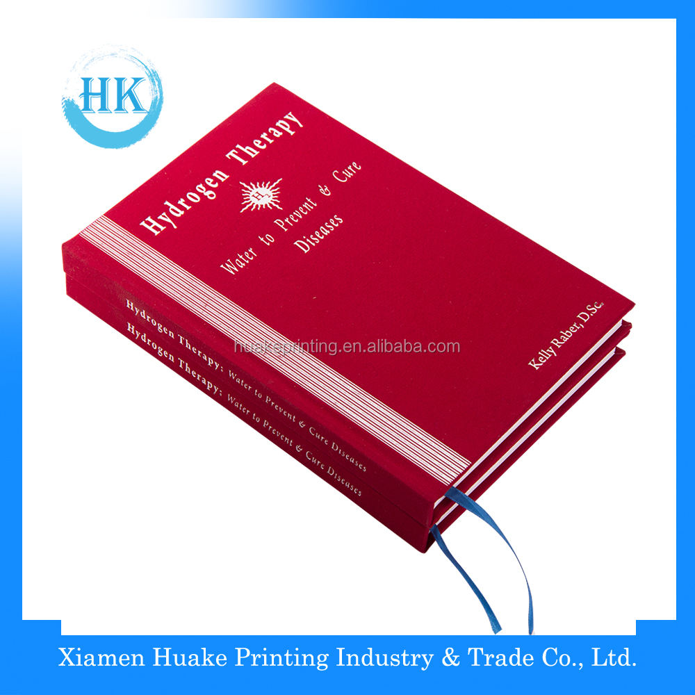 High Quality White Ink Emboss Printing Case Bound Book Printing