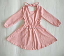 Boutique baby girl clothes pink children dress long sleeve bulk wholesale baby clothing dress kids girl