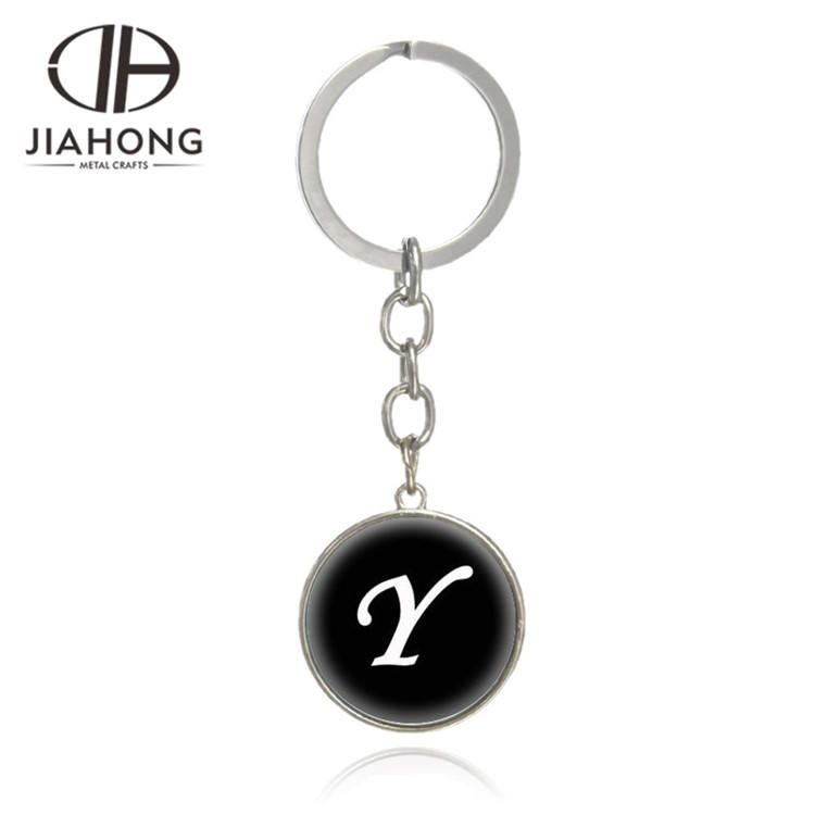 NEW LEATHER KEY RINGS PERSONALISED INITIAL LETTER Q U X I /& Y