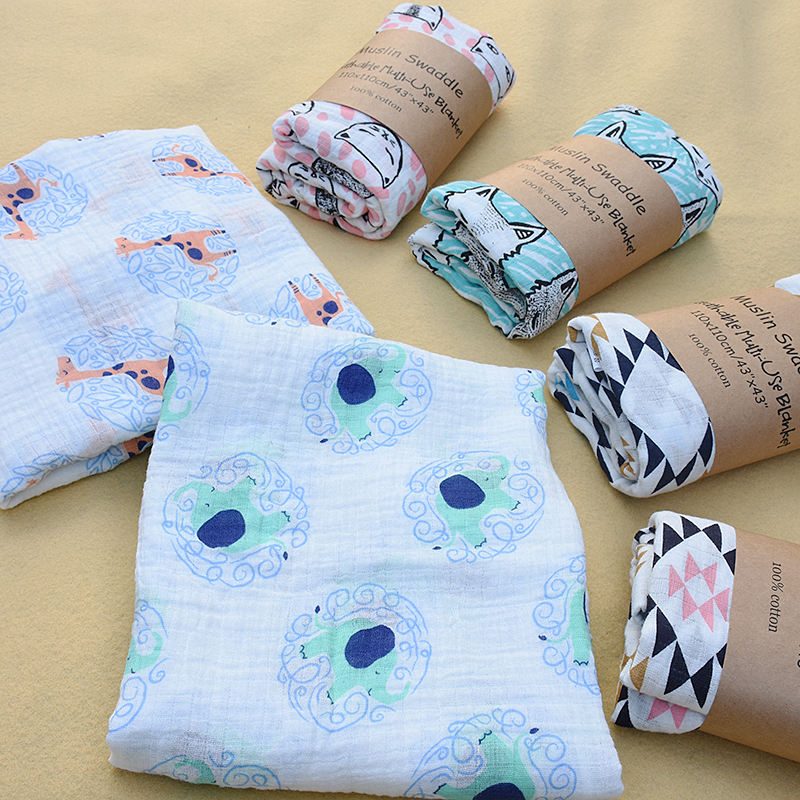 Soft Custom Baby Muslin Blanket Swaddle