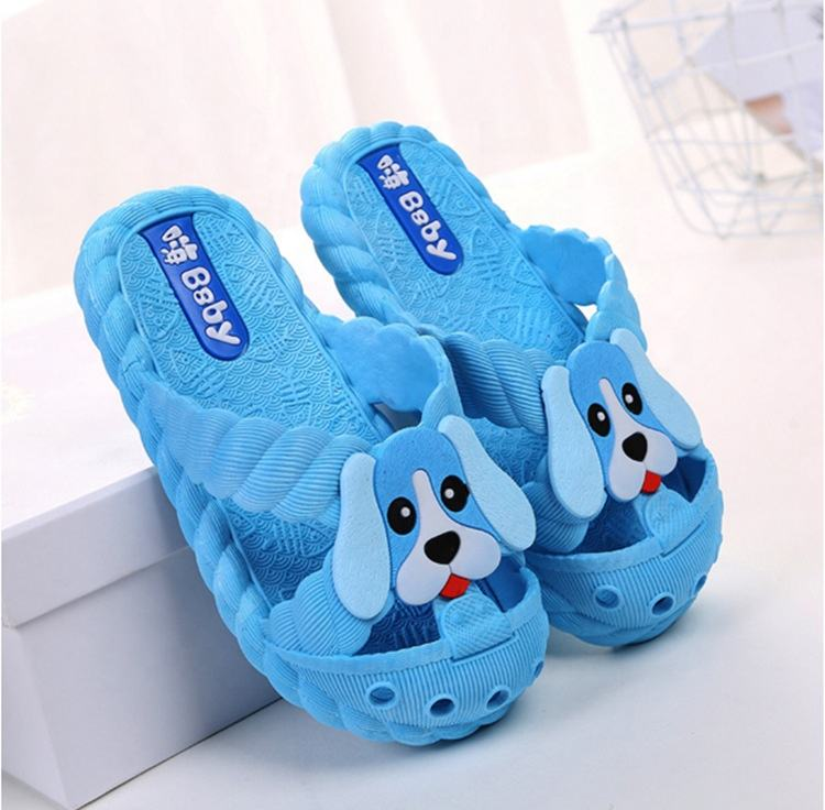 Kids puppy and dog pattern Non-Slip Shower Pool Slippers Cute Outdoor Indoor Kids Flip Flops slippers for Little Girls Boys