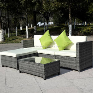 Luar 5 pcs Rotan Sofa Set Patio Furniture