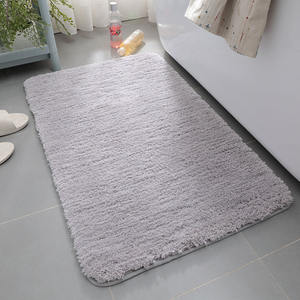 Customized 50*80cm ultrafine fiber dust removal non slip long wool bathroom rug shaggy