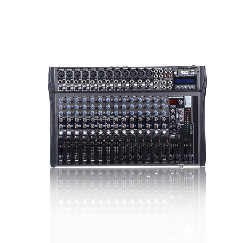 OEM 16 Channel Mixer Equalizer Power Amplifier Suara Profesional Audio USB