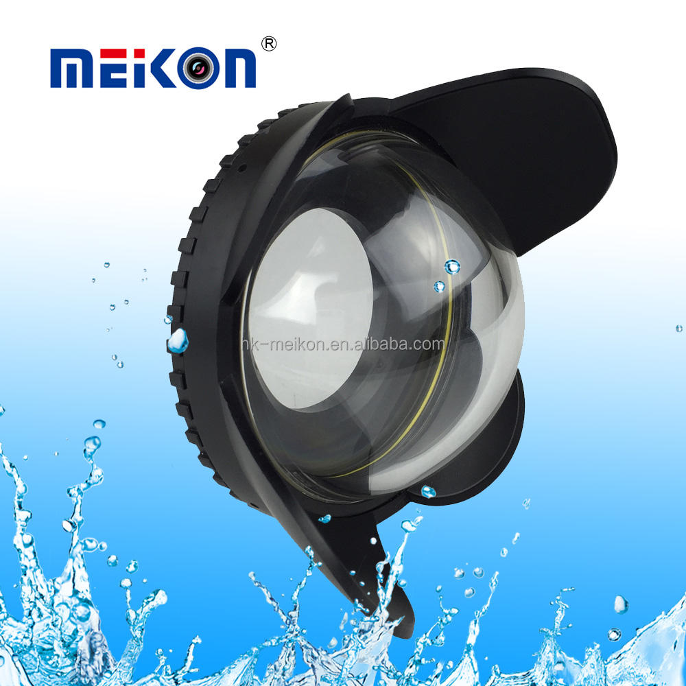 Meikon 67 Mm Optical Fisheye Lens Shade Fisheye Dome Port Underwater 67 Mm Dome Port untuk Sudut Lebar dan Ikan <span class=keywords><strong>lensa</strong></span> Mata