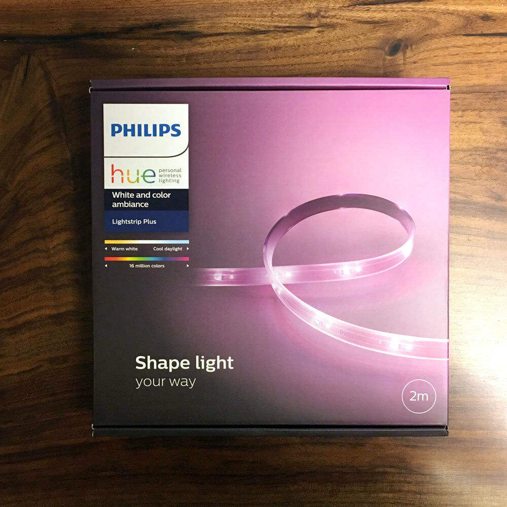 PHILIPS Hue White and color ambiance LightStrip Plus APR Base 2M 80in Smart LED