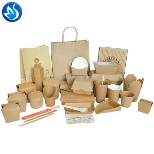 Disposable kraft paper food box/paper food packaging