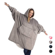 Huggle Hoodie Wearable Blanket Ultra Plush Blankets Hoodie Head Blanket- One Size Fit Adult Men Women for Winter Home