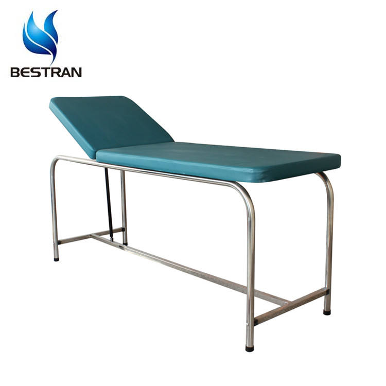 BT-EA010 Hospital Stainless Steel Adjustable Examination Couch With Mattress Medical Equipment Manufacturer
