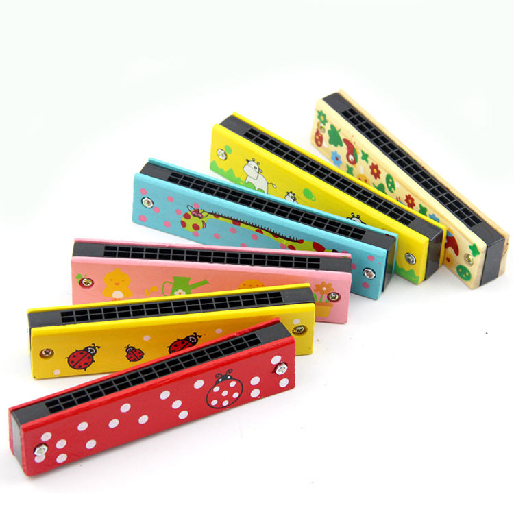 Color Painted kindergarten parent-child educational toys gift funny mini harmonica