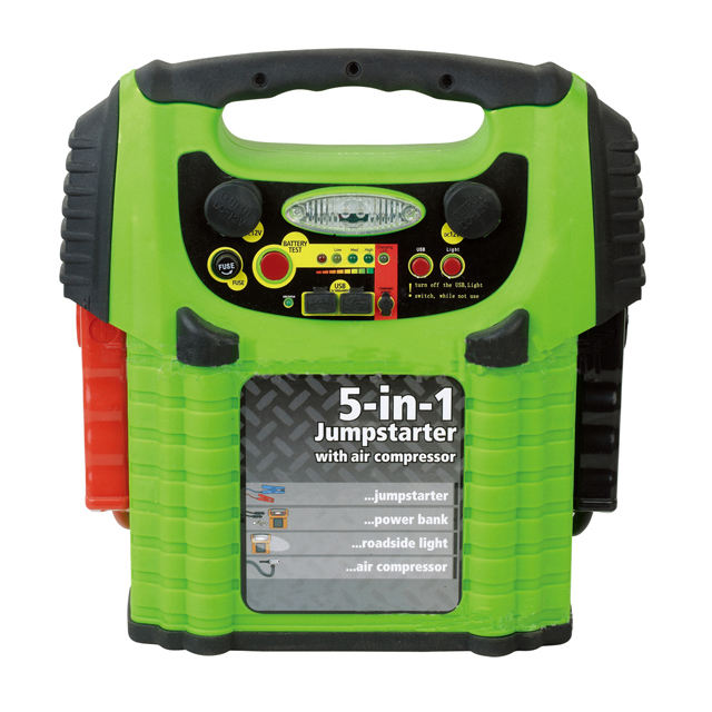 Portable 5 in 1 Emergency Multi-Function Car Battery Jump Starter