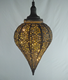 Hot Sale High Quality Round Shape Two Tone Colour Antique Vintage Led Pendant Light Chandelier Inside Gold Outside Black