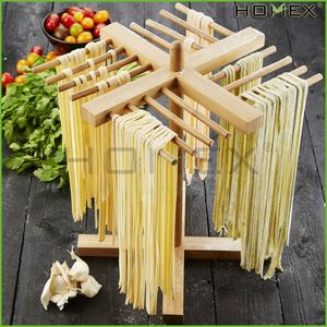 Collapsible Bamboo pasta drying rack/noodle rack Homex-BSCI Factory