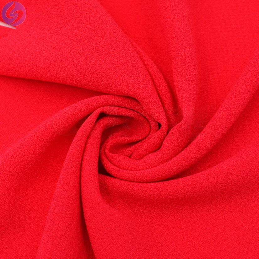 High quality polyester plain georgette woven chiffon fabric for women dress