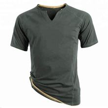 v-neck dark color t shirt dri fit shirts wholesale men's clothing