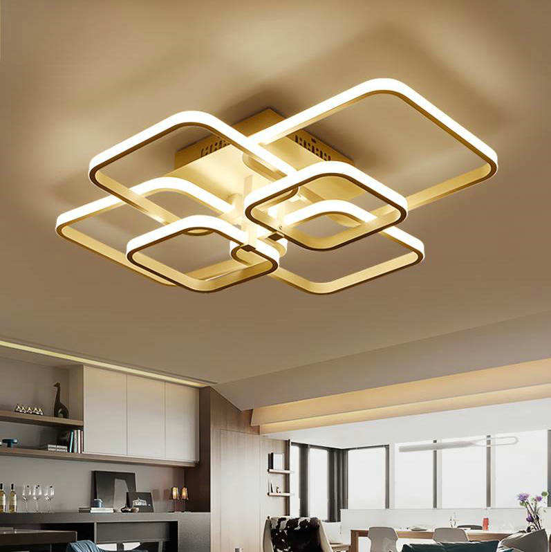Modern Decorative Aluminum Led Flush Mount Ceiling Lamp