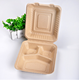 Factory Directly Sale Food packaging Containers Biodegradable Lunch Box Pulp Paper
