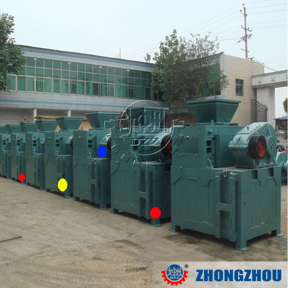Low-consumption low price briquetting press for charcoal dust