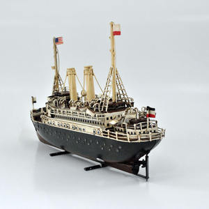 Classical iron ship model for 60th birthday gift ideas, home decor, art collections
