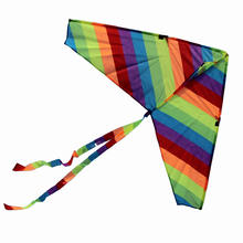 good flying small rainbow delta kite for kids