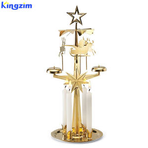 Original Swedish Christmas Angel Chimes Cherub Spinning Candle Holder