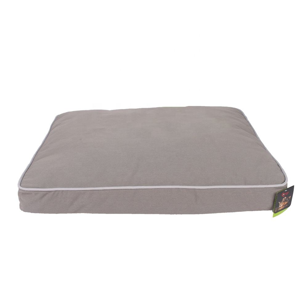 Washable Grey Large Non Slip Canvas Fabric PP Pet Dog Pad Beds Dog Bed Crate Mat
