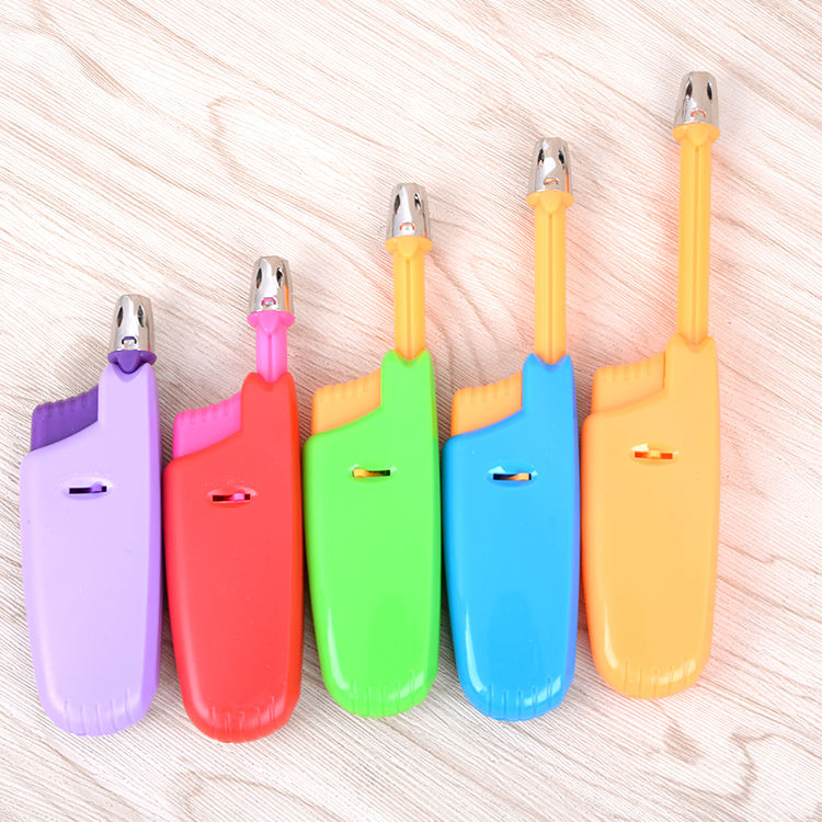 small and exquisite candle lighter factory wholesale ignition guns plastic lighters