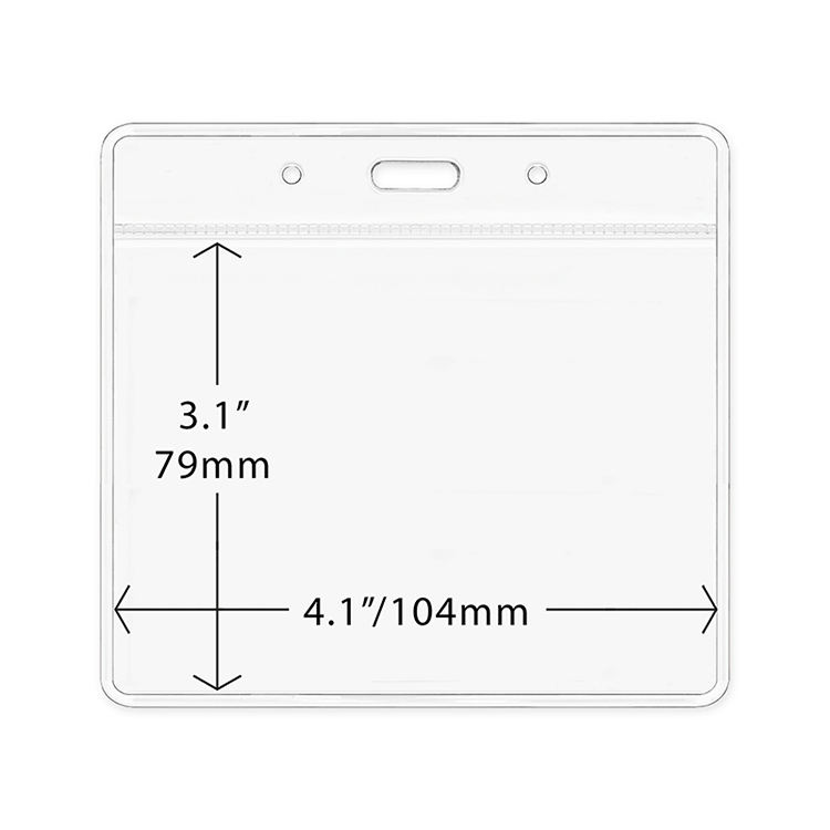 3*4 pretty clear id holder factory wholesale customized business name badge holder plastic transparent badge holders