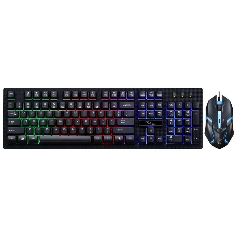 Mechanische Tastatur mini Wired RGB LED Backlit glas Computer Gaming einer hand tastatur