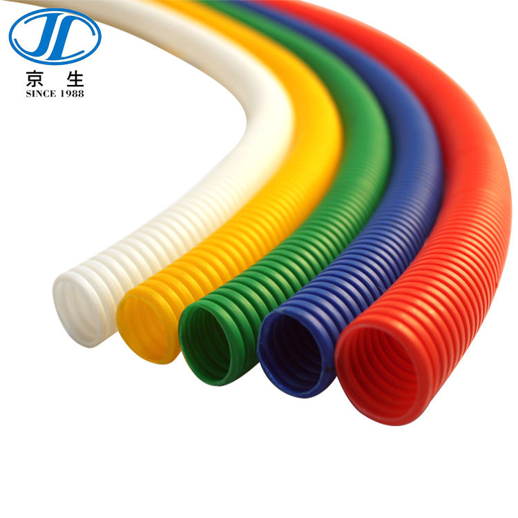 Witte Plastic Elektrische Corrugated Conduit Pipes