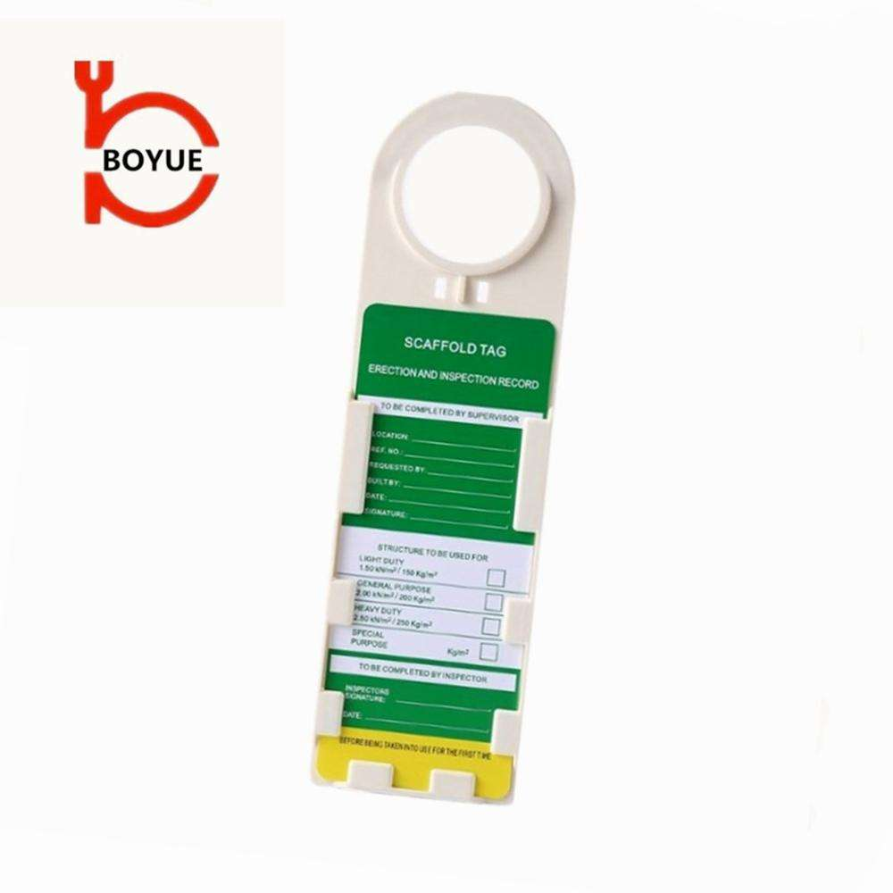 high quality customized scaffolding inspection safety tag for construction scaffolding