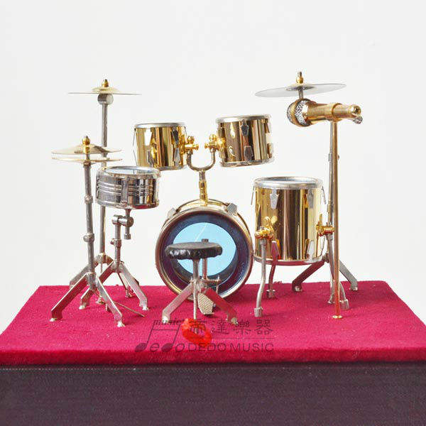 Goldplated Drum Mini Musical Instruments