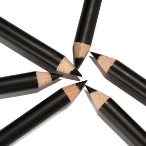 12pcs/set P127 black Eyeliner Pencil Waterproof Eyebrow Beauty Pen Eye Liner Pencil all black