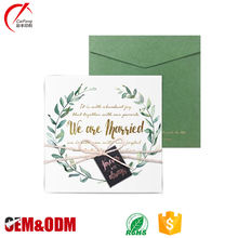 OEM gold foil wedding invitation cards