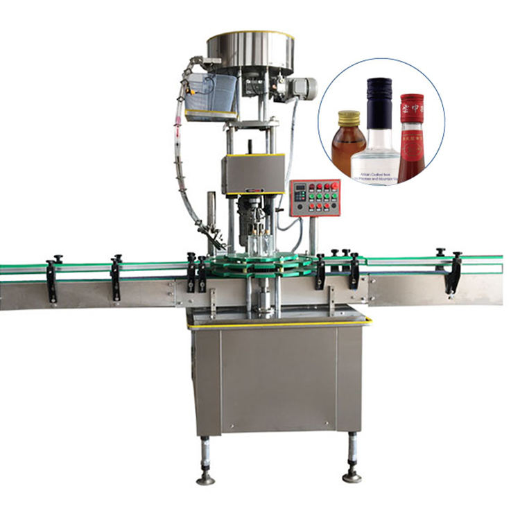 Automatic Single Head Glass Bottle Aluminium Cap Screw Capping Machine
