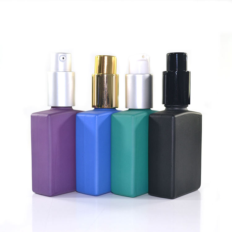 2018 HIGH quality 15ml 30ml 50ml 100ml matt black Frosted clear pink rectangular perfume glass spray bottle