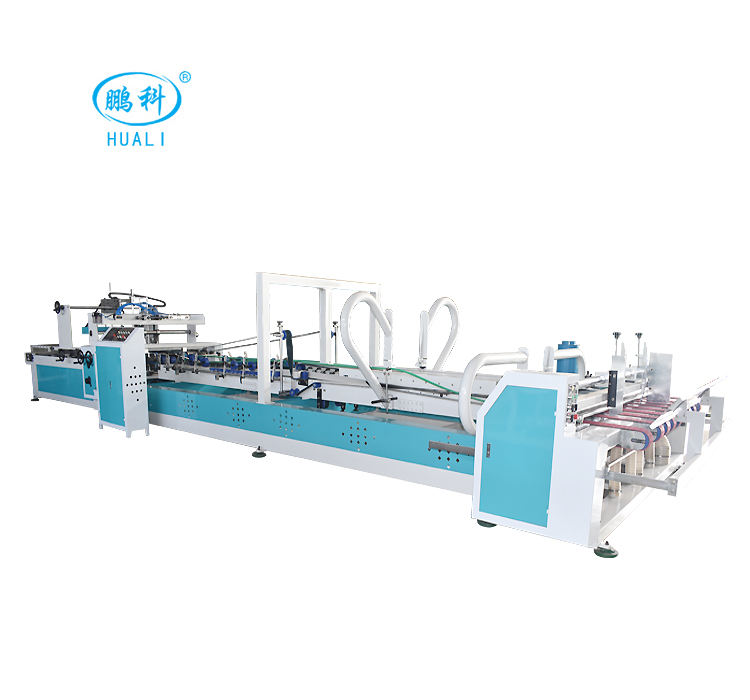 automatic cardboard box folding gluing machine carton folder gluer