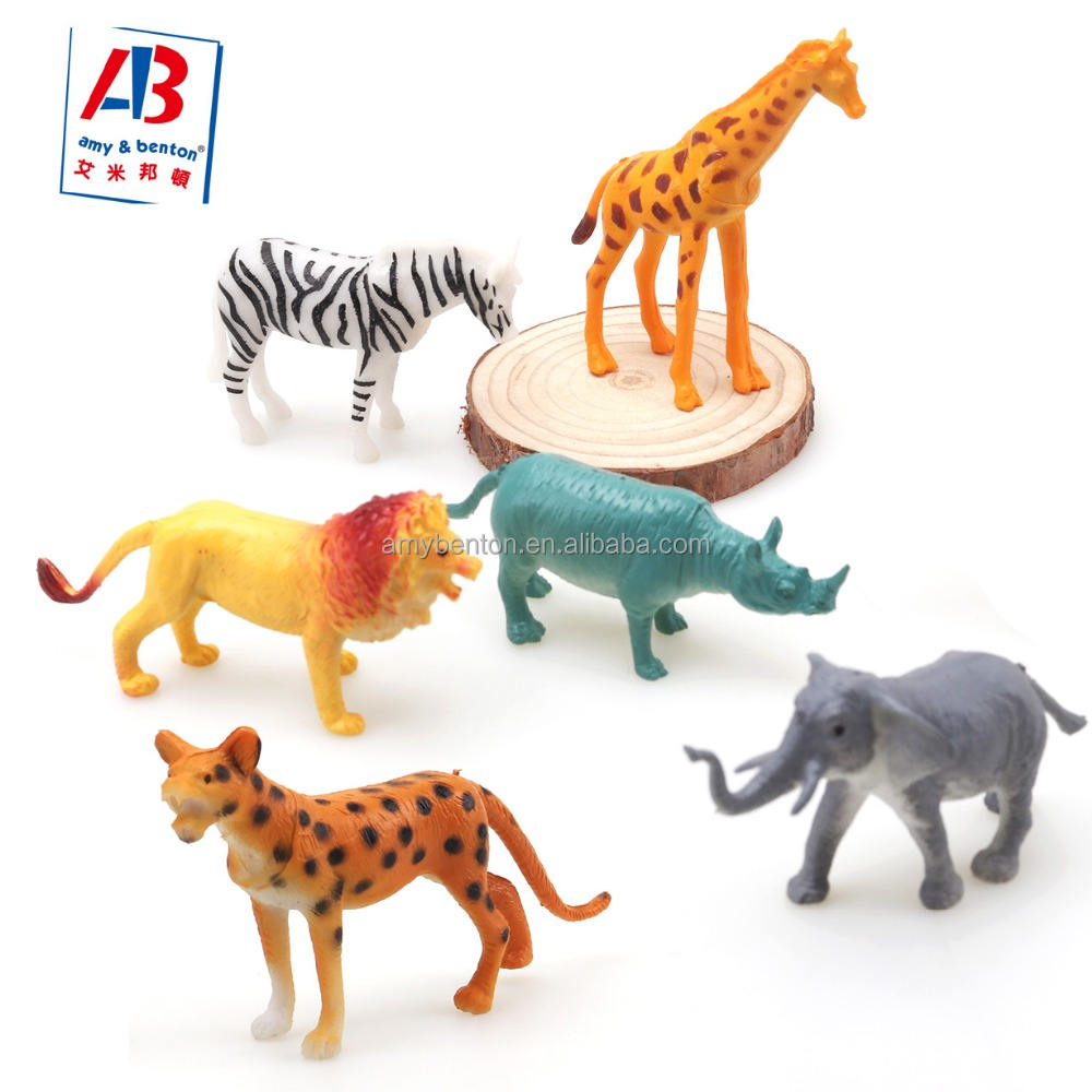 Hot Sale Mini Wild Jungle Animals Figures Party Favor Toys Set
