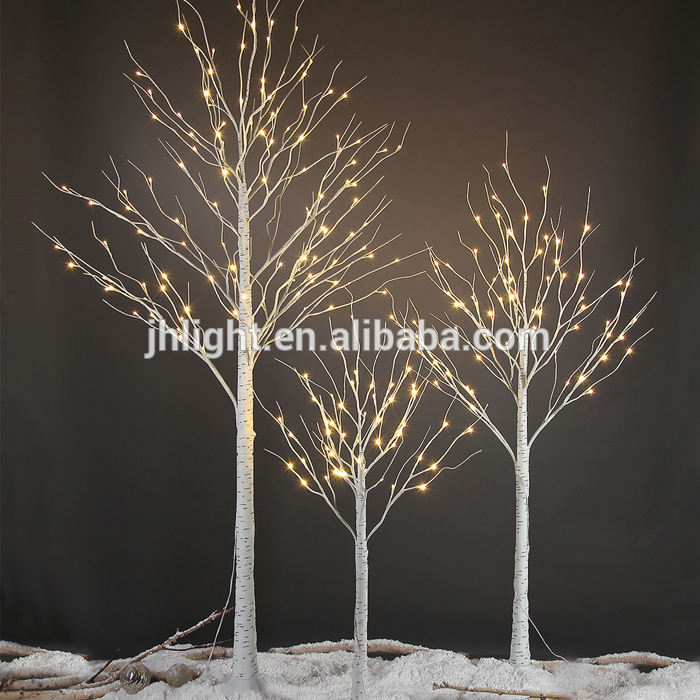 2018 Factory made LED Christmas birch tree light with high quality 24V DC decoration on christmas birch twig tree light