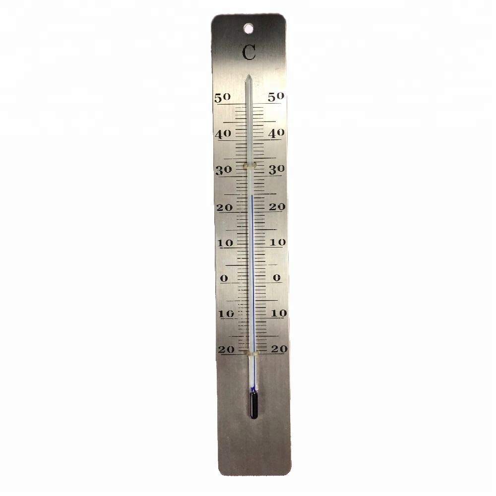 Best sell Outdoor Glass Tube Wrought Iron Mercury Free Thermometer