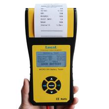 12v car diagnostic tool for all cars agm gel battery tester checker with printer Micro 300